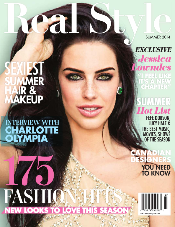 Jessica Lowndes RealStyle Magazine Summer 2014